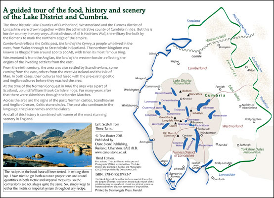 Lake District & Cumbria in Recipes and Photographs: inside front cover