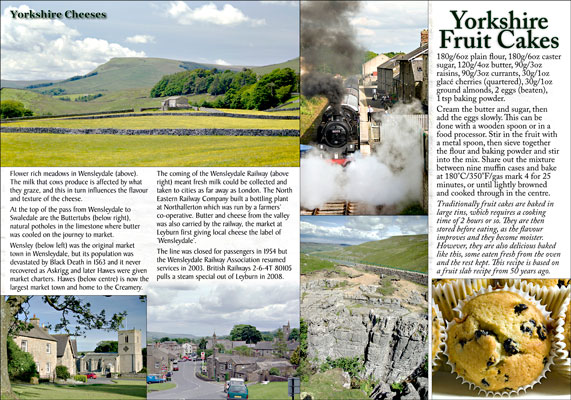 Yorkshire in Recipes and Photographs: inside page